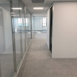 Flex Series glass fronts with power wall channel