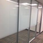 Flex Series wall with privacy window film