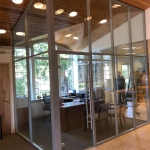 Flex Series glass office walls financial institution installation
