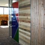 Flex series sustainable wood pallet interior walls