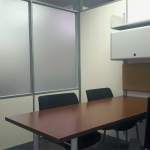 Flex Series with slat wall mounted storage cabinets