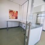 Floor to Ceiling Demountable Walls - Sliding Glass Door with Locking Ladder Pulls