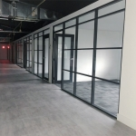 Floor to Ceiling Glass Offices with Black Frame Color - Flex Series