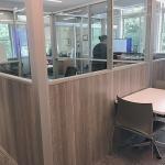 Free Standing Half Laminate Half Glass Offices - Flex Series