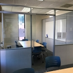 Freestanding study room Flex Series demountable walls - college installation