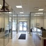 Glass Offices - Flex Series Credit Union Installation