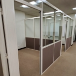 Glass and Fabric Office Walls