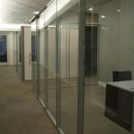 Glass Office with sliding frameless glass door