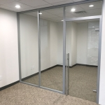 Glass wall office Flex Series financial sector