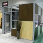 IFMA Conference Flex Series Freestanding Mixed Solid Panel Glass Offices
