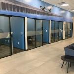 NxtWall Flex Series Black Frame with Glass Sliding Doors
