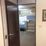 Solid Core Empire Mahogany Door with Brownstone Aluminum Framing
