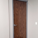 Solid Core Laminate Swing Door English Oak Finish