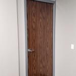 Solid Core Laminate Swing Door English Oak Finish