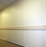 Solid Wall Panels with Matching Wall Trim Finish
