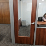 Wood Frame Door with Glass Insert