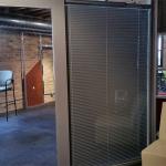 Between glass blinds detail Nxtwall Flex wall series