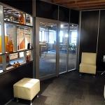 NxtWall Chicago showroom Flex series open shelf wall application