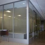 Demountable glass walls with power raceway