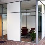 Mixed Panels Corner Office