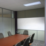Solid Fabric Panels with Whiteboard
