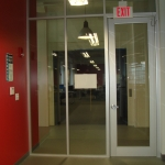 Glass with Framed Anodized Full Lite Door