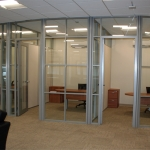 Flex series curved glass office wall system