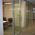 Flex series single pane glass office fronts