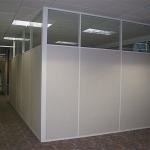 Flex series white aluminum extrusions conference room