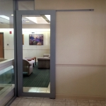 Glass aluminum frame slider door