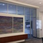 Glass clerestory Flex series demountable wall system