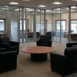 Glass radius office fronts