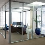 Glass wall corner office - Flex series