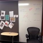 Tackboard and whiteboard wall - Flex series
