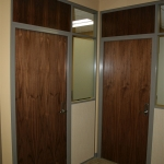 Wood Veneer doors with veneer wall panels - Council office