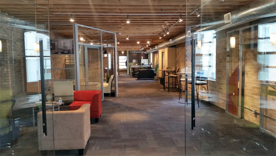 Nxtwall Chicago demountable wall systems showroom