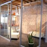 Flex and View series corner glass office integration