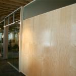 Veneer walls with matching trim NxtWall Chicago showroom