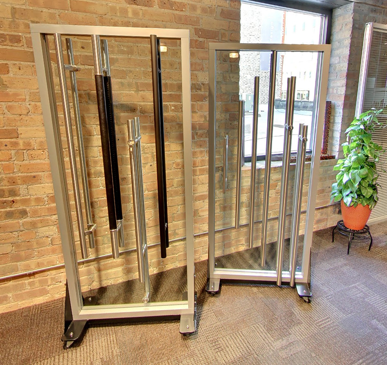 Nxtwall ladderpull door hardware displays