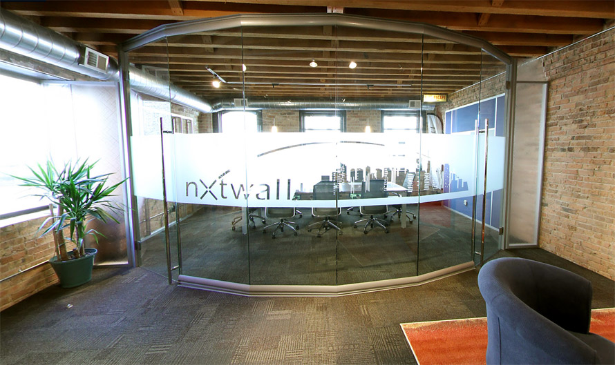 Curved Glass Conference Room - View Series