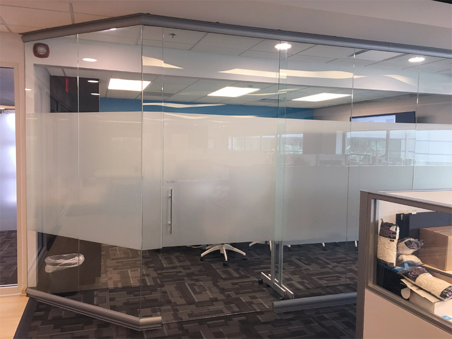 Glass Conference Room Angled Walls - View Series