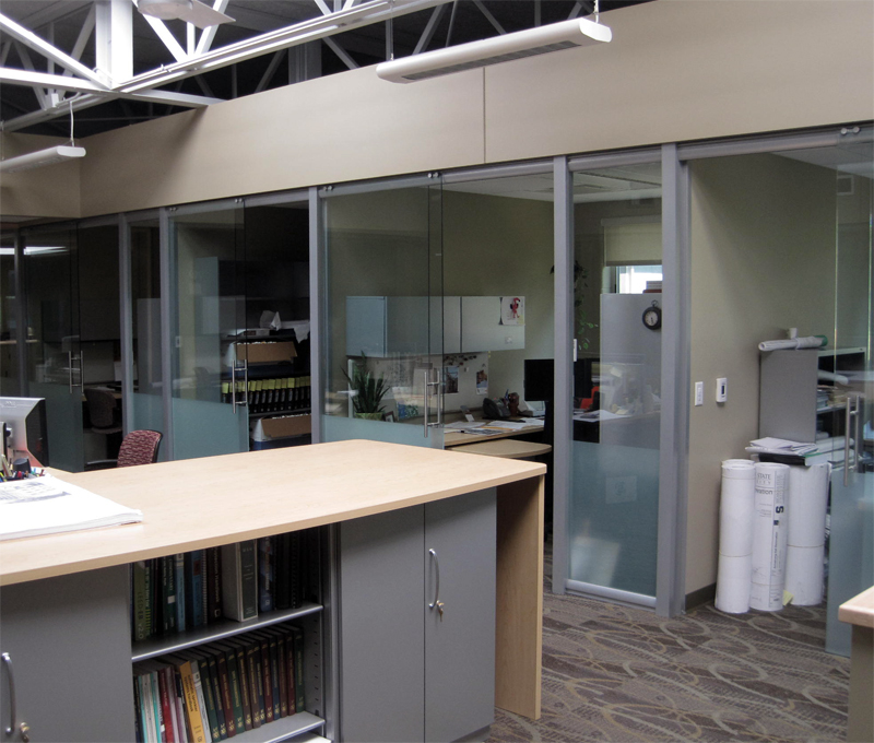 Higher Education frosted glass clear glass office fronts