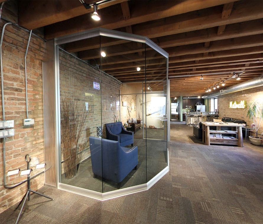 View series nxtwall for Curved glass wall