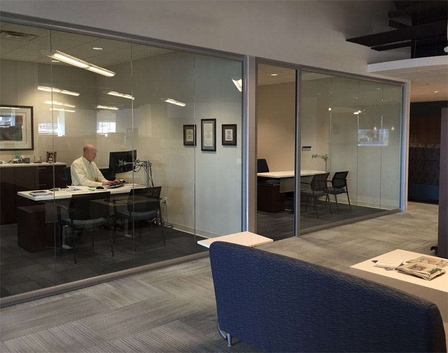 Glass offices - View series wall system