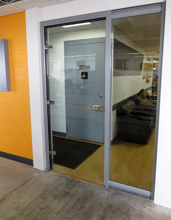 Glass swing door front entrance - View series