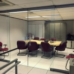 Frameless glass double barn door glass demountable wall meeting room