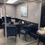 Glass office at financial institution - View Series Architectural Walls