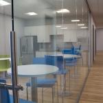 Kitchen cafeteria glass walls installation View Series