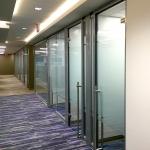 Locking glass door hardware on swing and sliding doors
