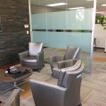 Single pane glass wall